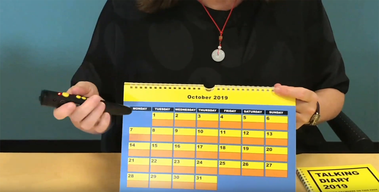 Personalised Talking Wall Calendar and Desk Diary with PENfriend